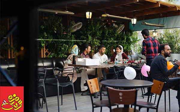 کافه رو باز تهران در کرونا